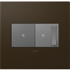 Legrand Adorne 2-Gang Bronze Square Plastic Wall Plate