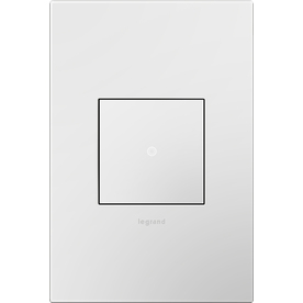 Legrand Adorne 1-Gang Gloss White Square Plastic Wall Plate