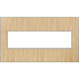 Legrand Adorne 4-Gang French Oak Quad Square Wall Plate
