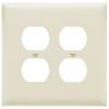 Pass & Seymour/Legrand 2-Gang Light Almond Standard Duplex Receptacle Thermoplastic Wall Plate