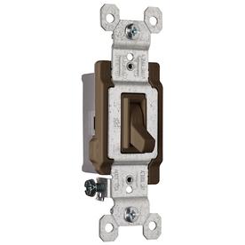 Pass & Seymour/Legrand 15-Amp Brown Light Switch