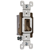 Pass & Seymour/Legrand 1-Switch 15-Amp Single Pole Brown Indoor Framed Toggle Light Switch