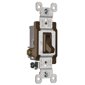 Pass & Seymour/Legrand 1-Switch 15-Amp 3-Way Single Pole Brown Indoor Framed Toggle Light Switch
