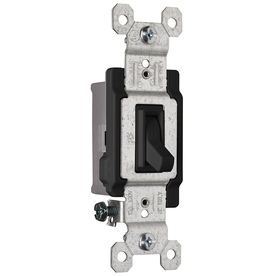 Pass & Seymour/Legrand 1-Switch 15-Amp Single Pole Black Indoor Framed Toggle Light Switch