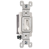 Pass & Seymour/Legrand 1-Switch 15-Amp Single Pole White Indoor Framed Toggle Light Switch