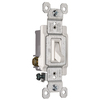 Pass & Seymour/Legrand 1-Switch 15-Amp 3-Way Single Pole White Indoor Framed Toggle Light Switch