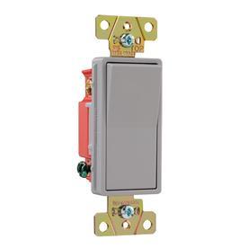 Pass & Seymour/Legrand 20-Amp Gray 3-Way Decorator Light Switch