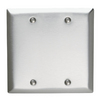 Pass & Seymour/Legrand 2-Gang Stainless Steel Blank Stainless Steel Wall Plate