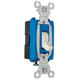 Pass & Seymour/Legrand 15-Amp Light Almond Light Switch
