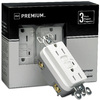 Pass & Seymour/Legrand 3-Pack 125-Volt 15-Amp Pass and Seymour/Legrand White Decorator GFCI Electrical Outlets