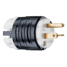 Pass & Seymour/Legrand 20-Amp 250-Volt Black/White 3-Wire Grounding Plug