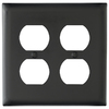 Legrand Trademaster 2-Gang Black Double Duplex Wall Plate