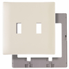 Pass & Seymour/Legrand 2-Gang Light Almond Standard Toggle Thermoplastic Wall Plate