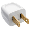 Pass & Seymour/Legrand 10-Amp 125-Volt white 2 wire plug