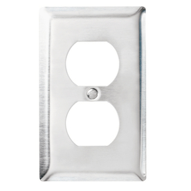 Pass & Seymour/Legrand 1-Gang Stainless Steel Standard Duplex Receptacle Stainless Steel Wall Plate