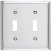 Pass & Seymour/Legrand 2-Gang Stainless Steel Standard Toggle Stainless Steel Wall Plate