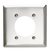Pass & Seymour/Legrand 2-Gang Stainless Steel Standard Single Receptacle Stainless Steel Wall Plate