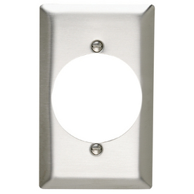 Pass & Seymour/Legrand 1-Gang Stainless Steel Single Round Wall Plate