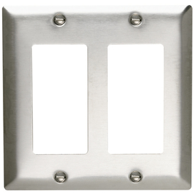Pass & Seymour/Legrand 2-Gang Stainless Steel Decorator Stainless Steel Wall Plate