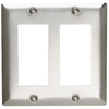 Pass & Seymour/Legrand 2-Gang Stainless Steel Decorator Rocker Stainless Steel Wall Plate