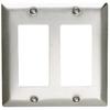 Pass & Seymour/Legrand 2-Gang Stainless Steel Decorator Rocker Stainless Steel Wall Plate