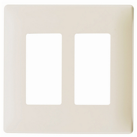Pass & Seymour/Legrand 2-Gang Light Almond Decorator Rocker Thermoplastic Wall Plate
