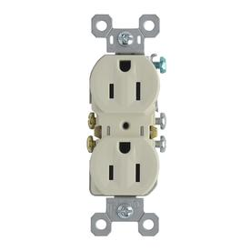 Pass & Seymour/Legrand 10-Pack 15-Amp Light Almond Duplex Electrical Outlet