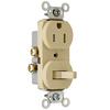 Pass & Seymour/Legrand 15-Amp 120/125-Volt Ivory Indoor Duplex Wall Outlet