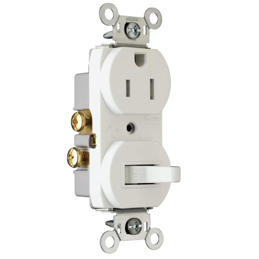shop pass seymour legrand 15 amp white combination combination light switch at lowes