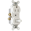 Pass & Seymour/Legrand 15-Amp 120/125-Volt White Indoor Duplex Wall Outlet