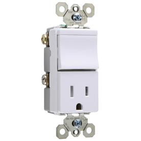 Pass & Seymour/Legrand 15-Amp White Combination Combination Light Switch TM818TRWCC6