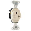 Pass & Seymour/Legrand 20-Amp 125-Volt Light Almond Indoor Round Wall Outlet