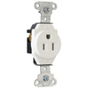 Pass & Seymour/Legrand 15-Amp White Single Electrical Outlet