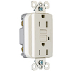 Pass & Seymour/Legrand 3-Pack 125-Volt 15-Amp Light Almond Decorator GFCI Electrical Outlets