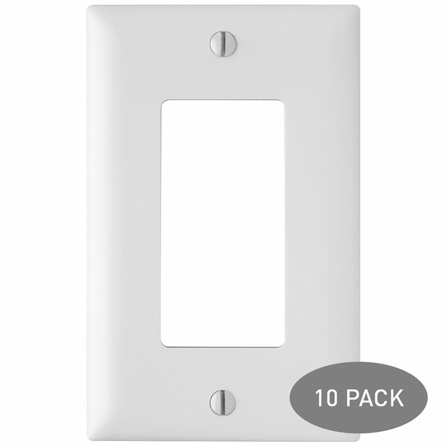 Pass /& Seymour  4-Gang Screwless Decorator Wall Plate Light Almond NIB NEW