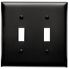 Pass & Seymour/Legrand Trademaster 2-Gang Black Double Toggle Wall Plate