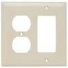 Pass & Seymour/Legrand 2-Gang Ivory Combination Nylon Wall Plate