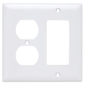 Pass & Seymour/Legrand Trademaster 2-Gang White Double Duplex/Decorator Wall Plate