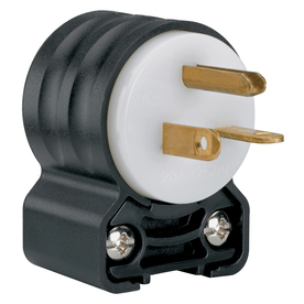 Pass & Seymour/Legrand 20-Amp 250-Volt Black/White 3-Wire Grounding Plug