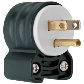 Pass & Seymour/Legrand 15-Amp 125-Volt Black/White 3-Wire Grounding Plug