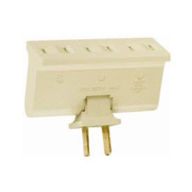 Pass & Seymour/Legrand 2-Wire Single-to-Triple Ivory Swivel Adapter