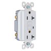Pass & Seymour/Legrand 20-Amp White Decorator GFCI Electrical Outlet