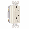 Pass & Seymour/Legrand 20-Amp Light Almond Decorator GFCI Electrical Outlet