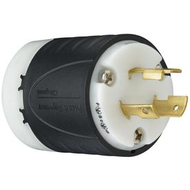 Pass & Seymour/Legrand 20-Amp 125-Volt Black 3-Wire Grounding Plug