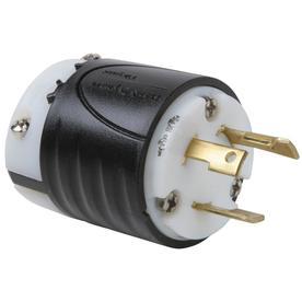 Pass & Seymour/Legrand 30-Amp 125-Volt Black 3-Wire Grounding Plug