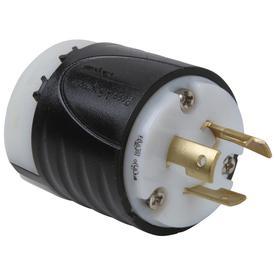 Pass & Seymour/Legrand 20-Amp 250-Volt Black 3-Wire Grounding Plug