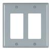 Pass & Seymour/Legrand Trademaster 2-Gang Gray Double Decorator Wall Plate