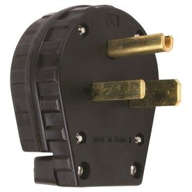 Pass & Seymour/Legrand 30-Amp 125-Volt Black 3-Wire Grounding Plug