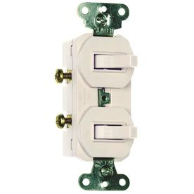 Pass & Seymour/Legrand 15-Amp White Double Pole Light Switch