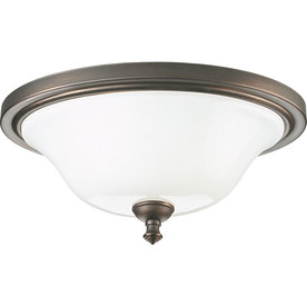 Shop progress lighting victorian 16 in w venetian bronze ceiling flush mount at - Victorian ceiling fans with lights ...